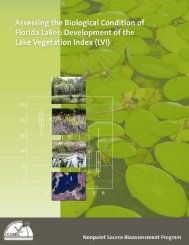 Assessing the Biological Condition of Florida Lakes: Development