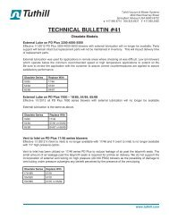 Application Bulletin - Tuthill Vacuum & Blower