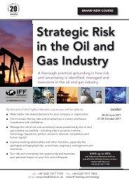 Strategic Risk in Oil and Gas – London Brochure - Warren Business ...