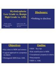 Objectives Disclosure: Outline