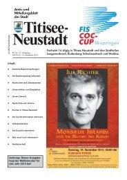 Amtsblatt Nr. 25 vom 13.12.2012 - Titisee-Neustadt