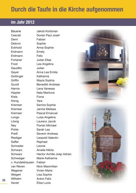Pfarrbrief - St. Johannes der Täufer
