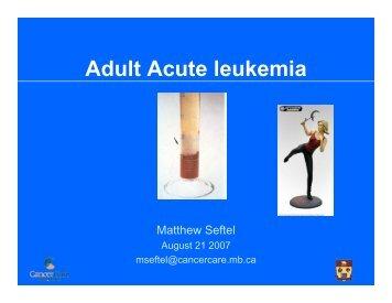 Adult Acute leukemia