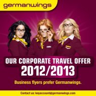 OUR CORPORATE TRAVEL OFFER