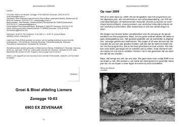 Groei & Bloei afdeling Liemers Zonegge 10-03 6903 EX ZEVENAAR
