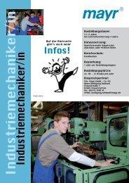 Industriemechaniker/in - mayr - Azubi Homepage