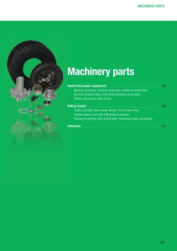 Machinery parts - 92sa