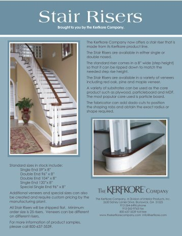 Stair Risers - Curvolutions!