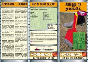 Anlägga ny gräsmatta. - Hornbach