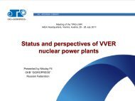 Status And Perspectives Of VVER nuclear power Plants - IAEA