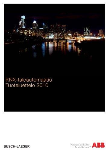 KNX-taloautomaatio Tuoteluettelo 2010 - SmartPage