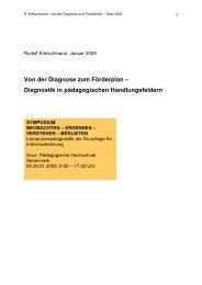 Diagnose zum Förderplan - Pädagogische Hochschule Steiermark