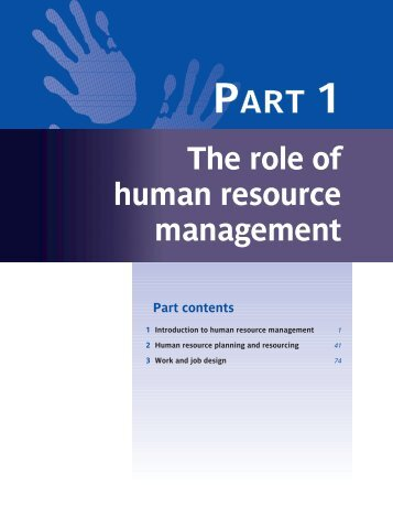 The role of human resource management