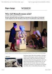 Artikel, Tagesanzeiger, 10.3.2013 (pdf)