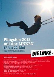 Pfingsten 2013 mit der LINKEN - DIE LINKE. Brandenburg