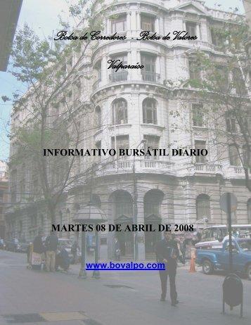 Bolsa de Corredores - Bolsa de Valores Valparaíso - Bovalpo.com