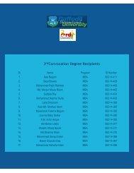 3rdConvocation Degree Recipients - Daffodil International University