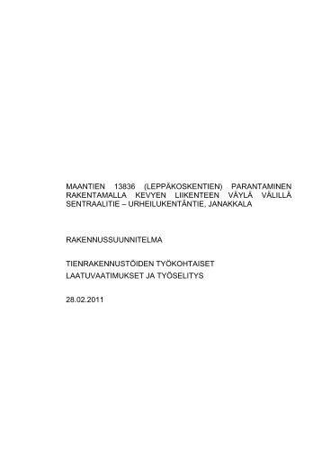 MAANTIEN 13836 (LEPPÄKOSKENTIEN ... - Janakkalan kunta