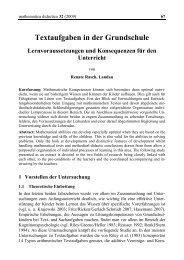 Textaufgaben in der Grundschule - Mathematica Didactica