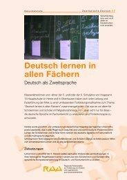 Deutsch lernen in allen Fächern - RAA NRW
