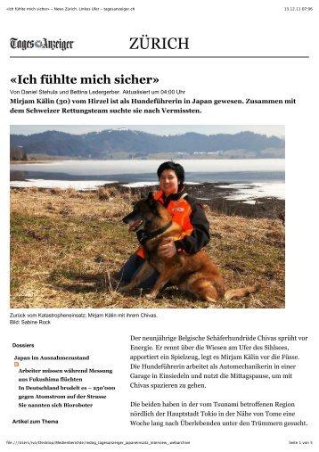 «Ich fühlte mich sicher» - News Zürich: Linkes Ufer - tagesanzeiger.ch