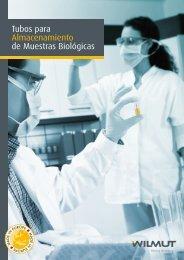 Tubos para Almacenamiento de Muestras Biológicas - Nirco