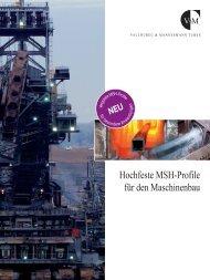 Hochfeste MSH-Profile für den Maschinenbau - Stahlbauforum