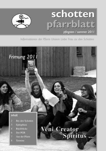 Ausgabe Nr. 35, Pfingsten 2011 - Schottenpfarre