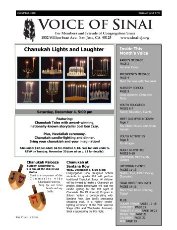 12-10 Voice DRAFT FINAL for WEB - Congregation Sinai