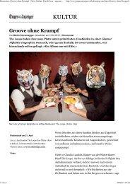 Groove ohne Krampf - News Kultur: Pop & Jazz ... - The Loops