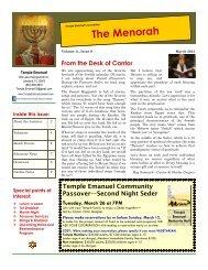 The Menorah - Temple Emanuel, Synagogue in Lakeland Florida