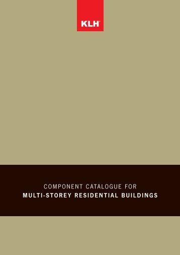 component catalogue for multi-storey residential buildings