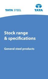 Stock Range and Specifications - General Steel Products
