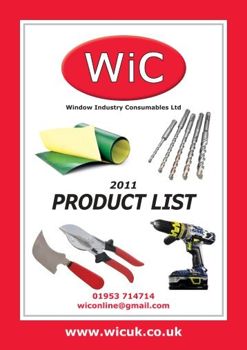 WIC Catalogue (2423kb) - Window Industry Consumables Ltd