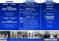 Festprogramm 2007 - Trachtenverein Menzing