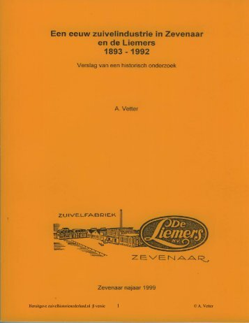 pdf tekstversie De Liemers Zevenaar - Zuivelhistorie Nederland