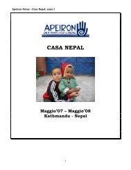 report casa nepal anno i - Apeiron