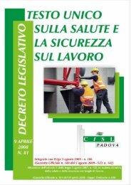 Testo unico su Sicurezza e Salute sul Lavoro - CISL Padova