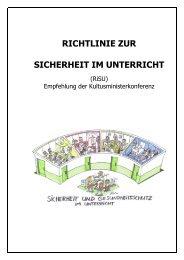 Richtlinie zur Sicherheit im Unterricht - Kultusministerkonferenz (KMK)