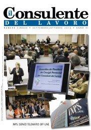 Settembre/Ottobre 2010 - Consulenti del Lavoro