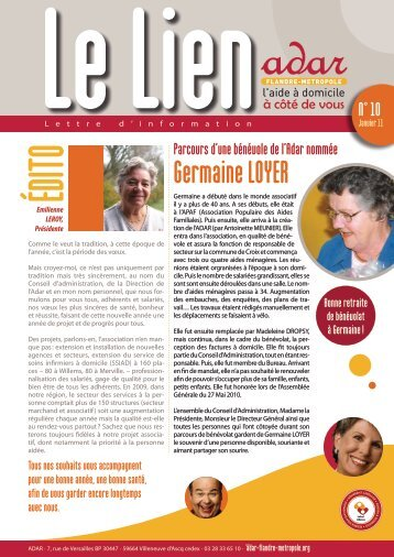 Germaine LOYER - ADAR