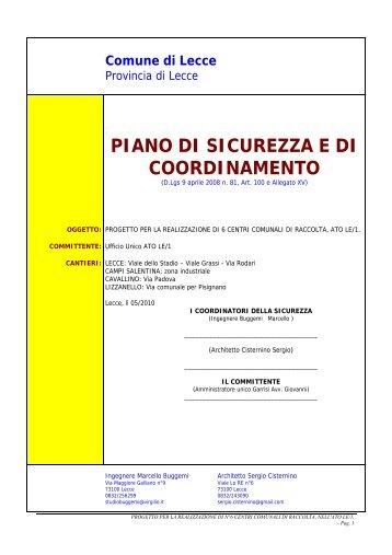 Scarica Terzo Allegato - home page - consorzio ato lecce 1