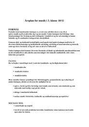 Årsplan for musik i 3. klasse 10/11 - Glesborg Skole