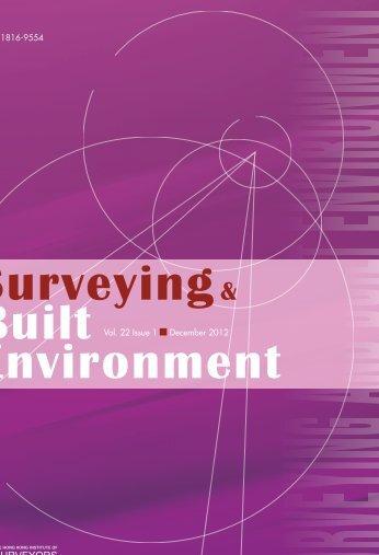 Surveying & Built Environment Vol. 22 Issue 1 (December 2012)
