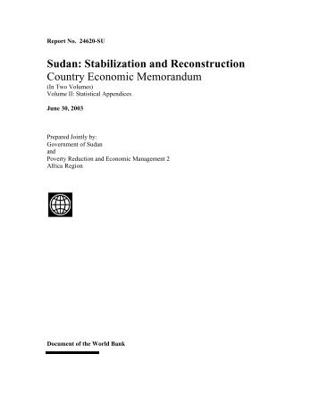 Sudan: Stabilization and Reconstruction - CEM Part - index