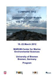 COMPARE 2012 Comparing Ocean Models with Paleo ... - Marum