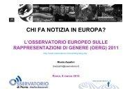 CHI FA NOTIZIA IN EUROPA? - Osservatorio di Pavia