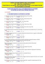 CHEK LIST sopralluogo in cantiere aggiornata al d lgs 81-08