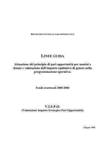 Linee guida: attuazione del principio di pari opportunità tra uomini e ...