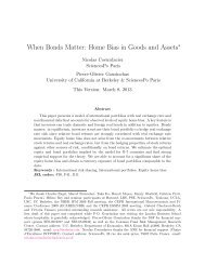 When Bonds Matter: Home Bias in Goods and Assets - Socrates